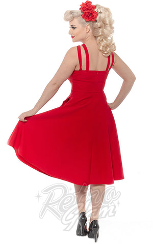 Rebel Love Pretty Woman Swing Dress in Red back