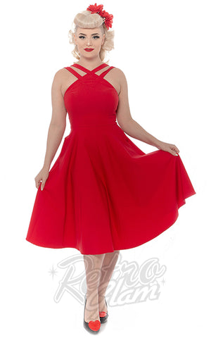 Rebel Love Pretty Woman Swing Dress in Red