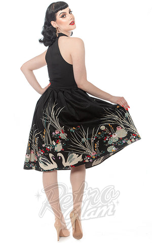 Rebel Love Sweet Sixteen Dress in Swan Border Print back