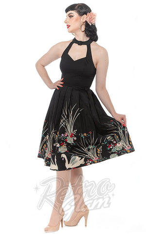 Rebel Love Sweet Sixteen Dress in Swan Border Print