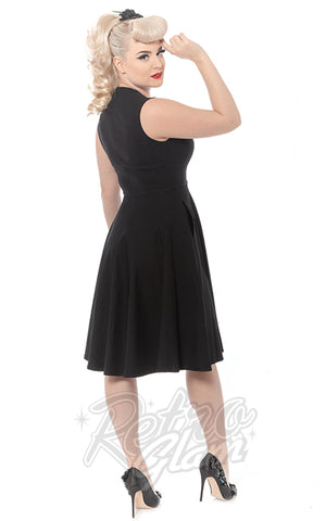 Rebel Love Black Vamp Dress with Snake Brooch back