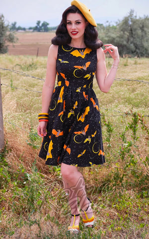 Retrolicious Bats Vintage Dress