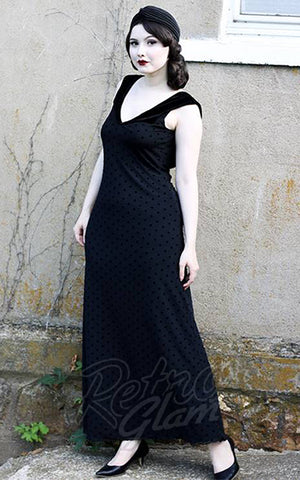 Retrolicious Baroness Von Bat Maxi Dress