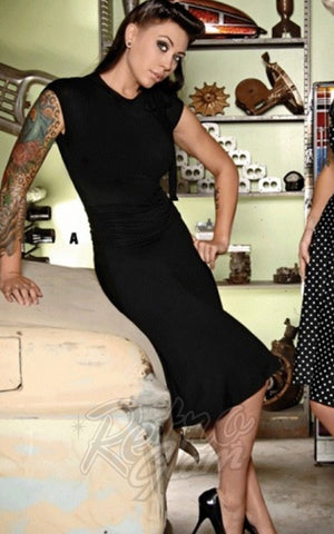 Retrolicious Bombshell Dress in Black rockabilly