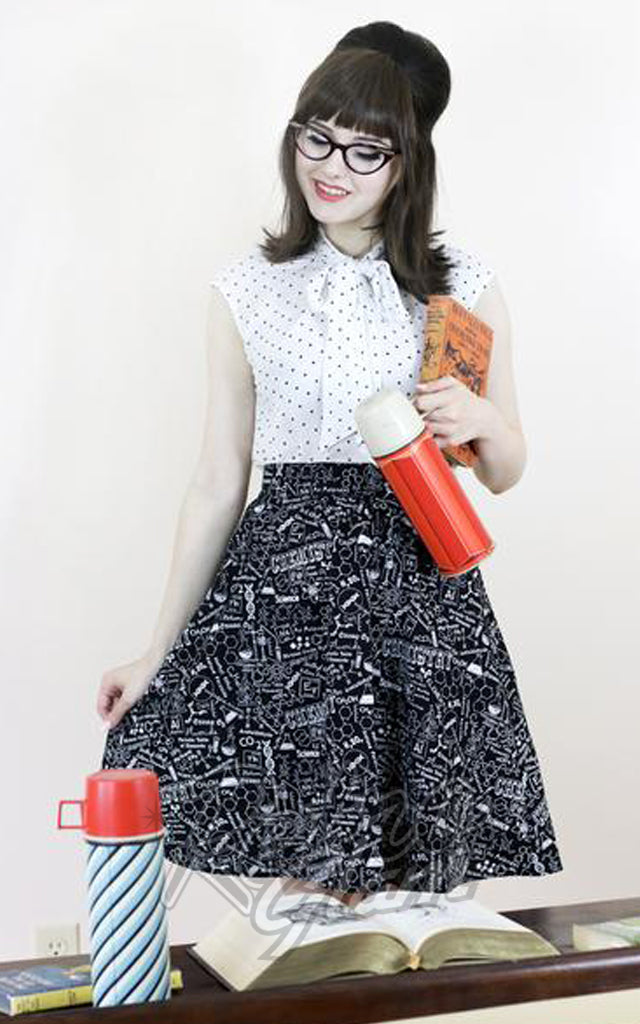 Retrolicious Chemistry A-Line Skirt