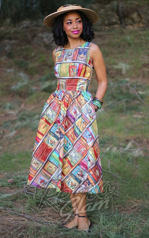 Retrolicious Fairytales Midi Dress model