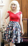 Retrolicious Holiday Dogs Skirt