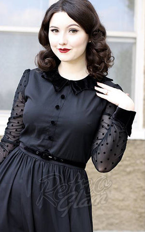 Retrolicious Nocturnal Swing Dress detail