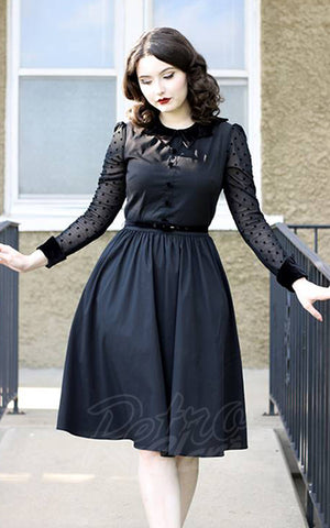 Retrolicious Nocturnal Swing Dress