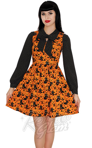 Retrolicious Pumpkins & Cats Dress