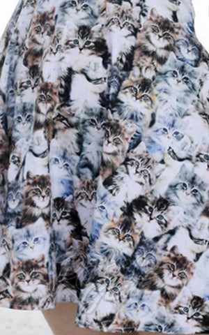 Retrolicious Realistic Cats Dress fabric