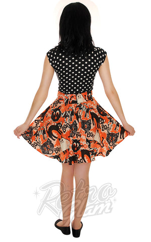 Retrolicious Scaredy Cat Skater Skirt back