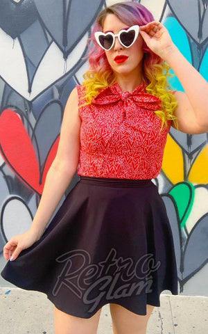 Retrolicious Skater Skirt in Black
