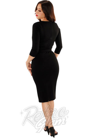 Retrolicious Starlet Dress in Black back
