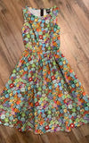Retrolicious Succulents Mid Dress