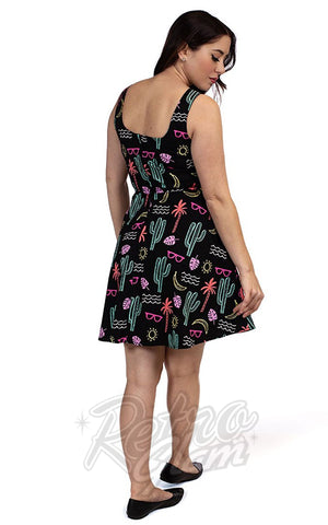Retrolicious Summer Fun Skater Dress back