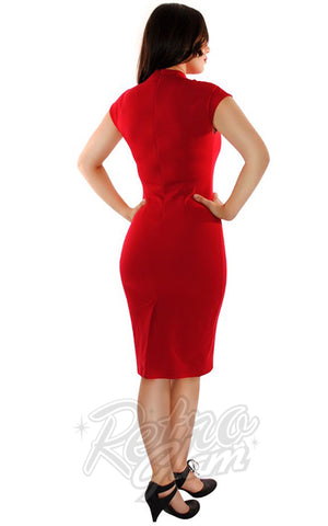 Retrolicious Temptress Dress in Red back