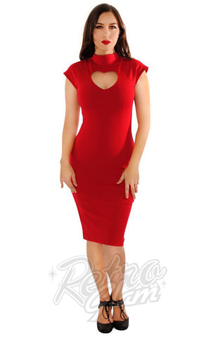 Retrolicious Temptress Dress in Red