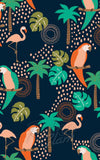 Retrolicious Tropical Birds Greta Dress detail