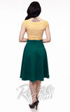 Retrolicious Charlotte Skirt circle skirt in Green back