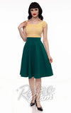 Retrolicious Charlotte Skirt circle skirt in Green front
