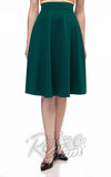 Retrolicious Charlotte Skirt circle skirt in Green cropped