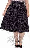Retrolicious Doris Skirt in Equations Print cropped