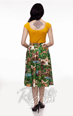Retrolicious Doris Skirt in Jurassic Park Print back