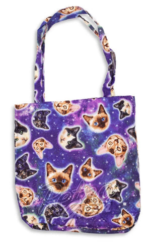 Retrolicious Galaxy Cats Tote Bag
