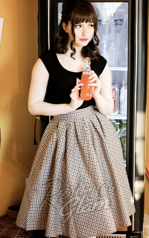 Retrolicious Madison Skirt in Checkers