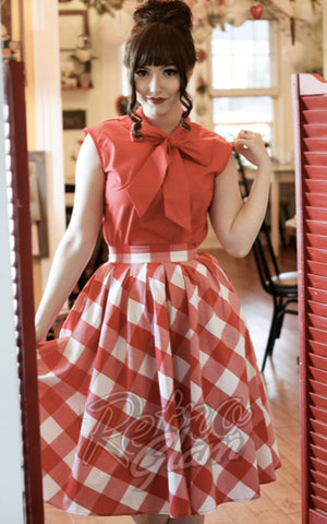 Retrolicious Madison Skirt in Large Gingham