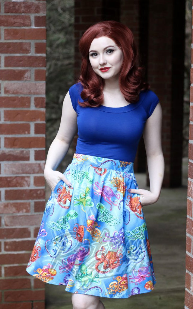 Retrolicious Octopus Aline Skirt