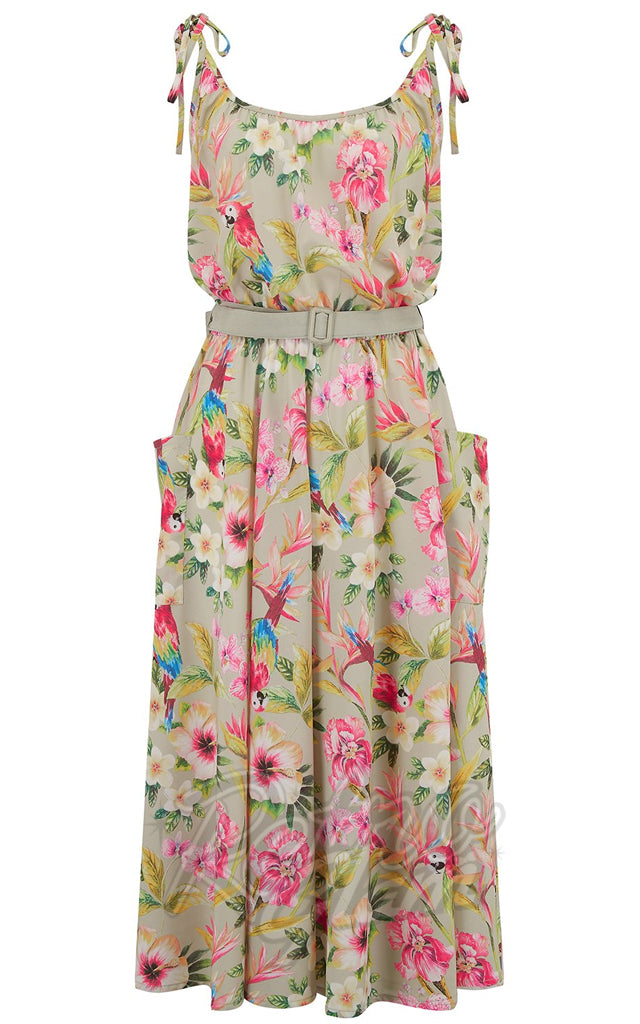 Rock n Romance Suzy Sun Dress in Paradise Print