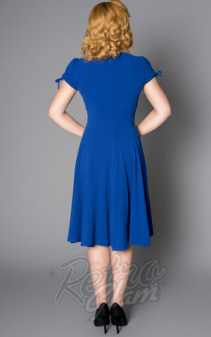 Sheen Ava Dress in Blue back
