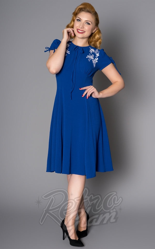 Sheen Ava Dress in Blue