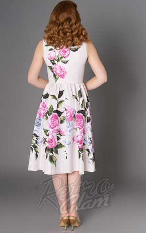 Sheen Pink Floral Leane Dress back