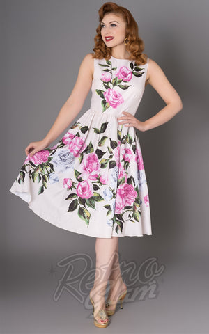 Sheen Pink Floral Leane Dress