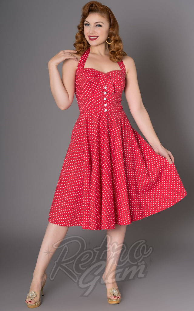 Sheen Xandria Dress in Red Daisies