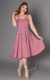 Sheen Angie red and white gingham Dress front