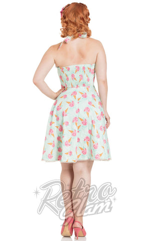 Voodoo Vixen Abigail Ice Cream Halter Dress back