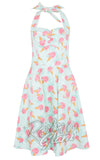 Voodoo Vixen vintage inspired Abigail rose Ice Cream Halter Dress