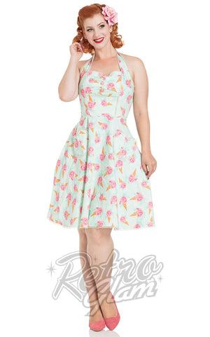 Voodoo Vixen Abigail Ice Cream Halter Dress front