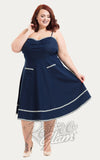 Voodoo Vixen Daisy May Denim Flared Dress