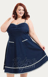 Voodoo Vixen Daisy May Denim Flared Dress front