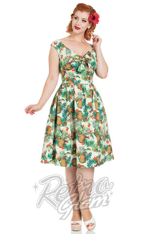 Voodoo Vixen Dana Tropical Cherry Dress front