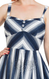 Voodoo Vixen Kayla Nautical Striped Dress bodice