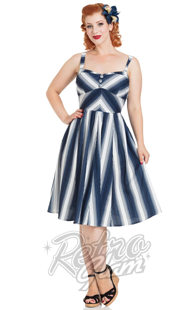 Voodoo Vixen Kayla Nautical Striped Dress