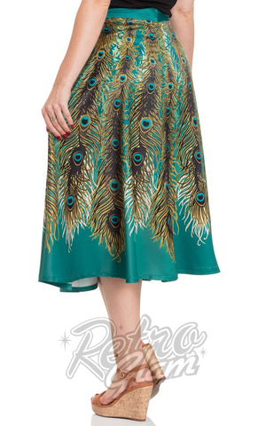 Voodoo Vixen Nicole Peacock Feather Skirt back