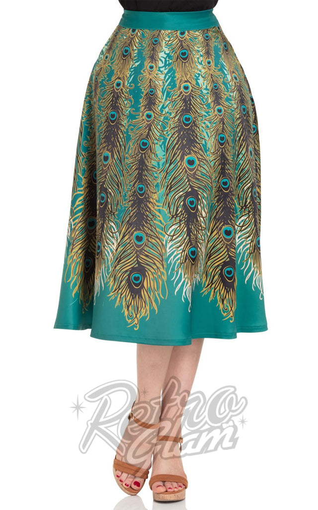 Voodoo Vixen Nicole Peacock Feather Skirt