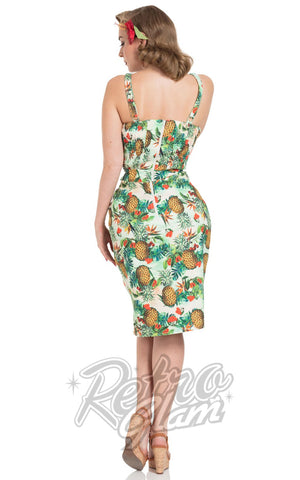 Voodoo Vixen Peggy Tropical Cherry Dress back